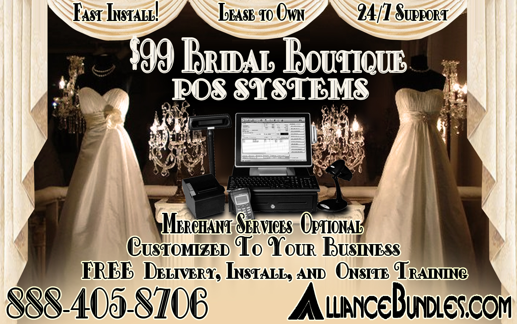 Point of Sale Bridal Shop, Boutique, or Bridal Store POS System